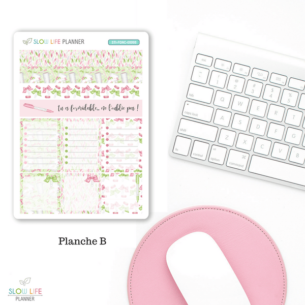 "Stickers collection planner addict ""La vie en rose"""