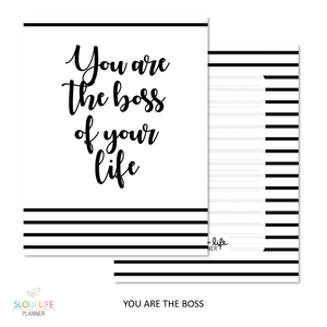 Slow Life Planner Couverture interchangeable Boss of your life