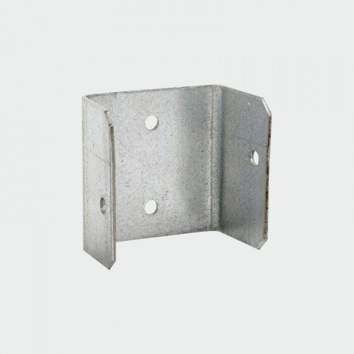 Does Not Apply Ironmongery PACK OF 20 - 50mm FENCE & TRELLIS CLIPS BRACKET PANEL FIXING GARDEN POST FENCING