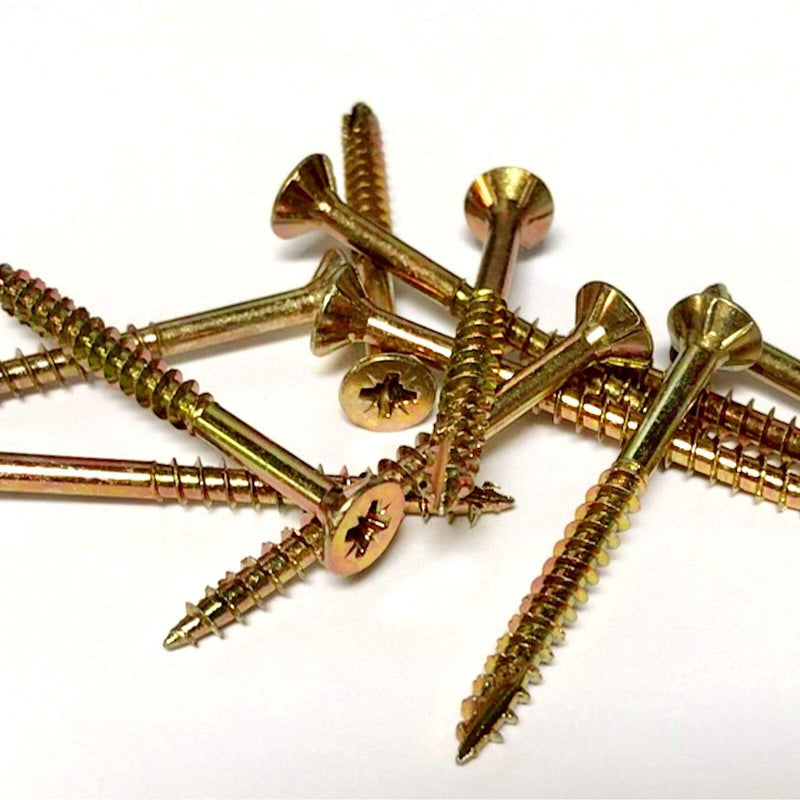 Does Not Apply Screws 1000, 6.0 x 180mm PROFESSIONAL WOOD SCREW ZINC YELLOW, CUTTER POINT POZI SCREWS