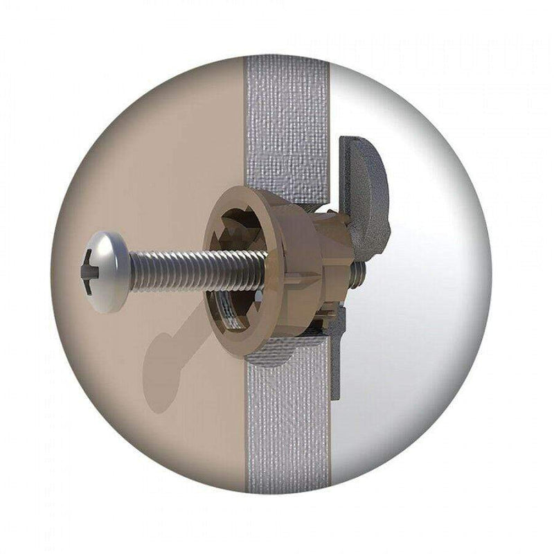 GripIt Fixings GRIPIT BROWN 20mm PLASTERBOARD FIXINGS & SCREWS HOLLOW CAVITY WALL PLUG GRIP IT