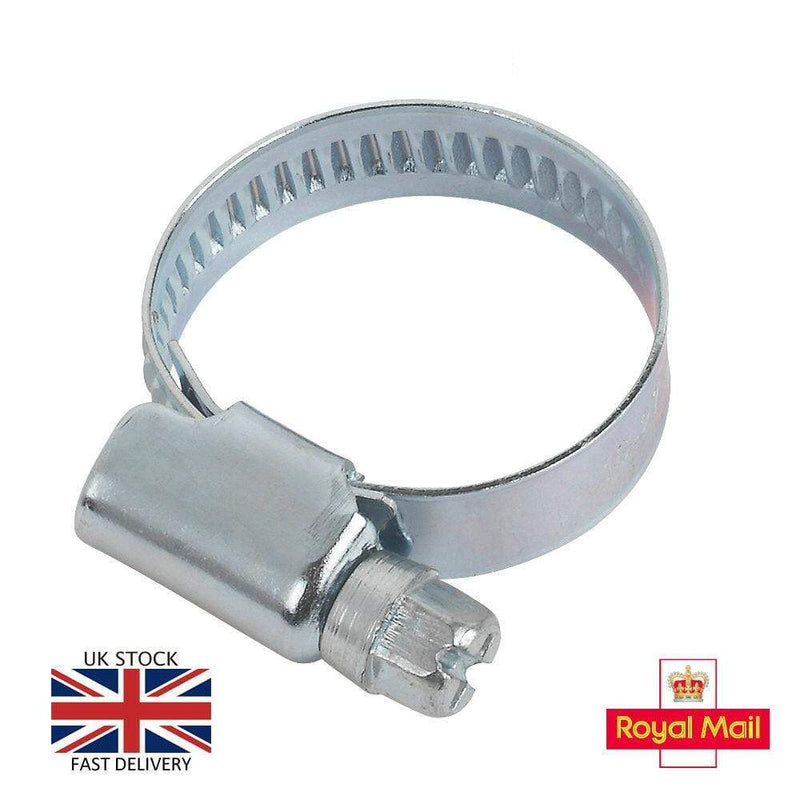Jubilee Fasteners Steel Hose Clips Pipe Clamps All Sizes Jubilee Type BZP W1 DIN3017 Not Stainless