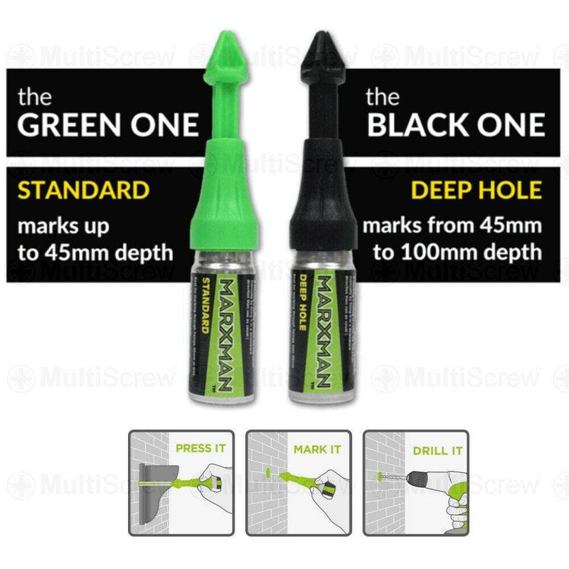 MarXman Consumables GREEN - Standard (up to 45mm) MarXman Chalk Marker Pen Standard Under 45mm & Deephole 45mm to 100mm FAST P&P