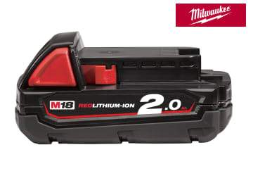 Milwaukee Power Tools Milwaukee M18 B2 REDLITHIUM-ION™ Slide Battery Pack 18V 2.0Ah Li-ion MILM18B2