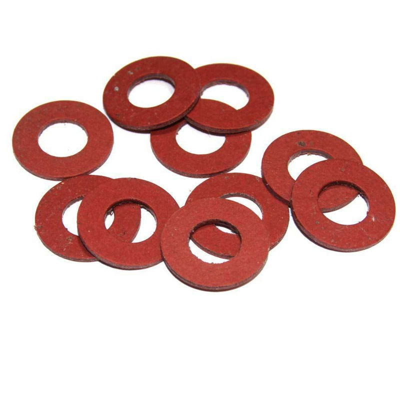 MultiScrew Consumables 10 / M10 M10 / 10mm RED FIBRE FLAT SEALING WASHER WASHERS NON CONDUCTIVE STANDARD BS6091