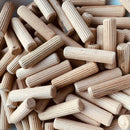 MultiScrew Consumables 6mm 8mm 10mm HARDWOOD DOWELS WOODEN CHAMFERED FLUTED PIN WOOD BEECH WOOD FSC