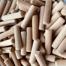 MultiScrew Crafts:Woodworking:Other Woodworking Supplies 6mm 8mm 10mm HARDWOOD DOWELS WOODEN CHAMFERED FLUTED PIN WOODWORK CRAFT FSC