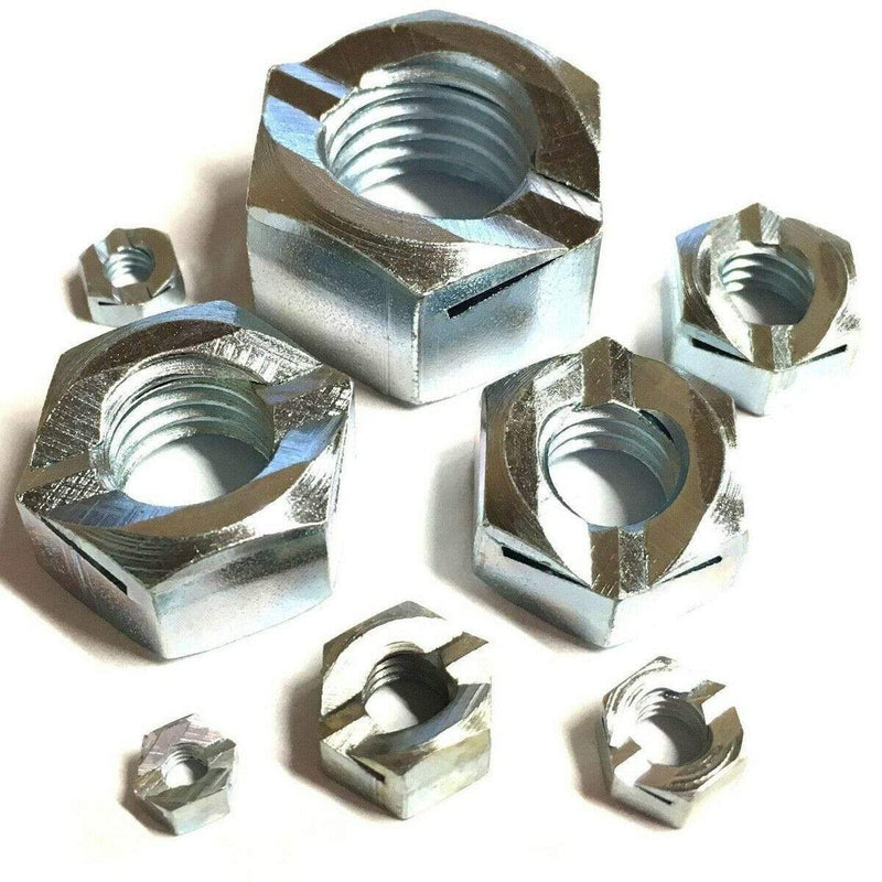 MultiScrew Fasteners M12 / 5 M12 Binx Nuts - Grade 5 Steel Zinc Plated - Self Locking 12mm Lock Nut BZP