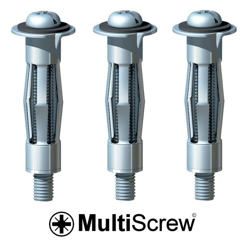 MultiScrew Fixings 10 x HEAVY DUTY HOLLOW WALL ANCHORS Metal/Cavity/Plasterboard Plug/Fixing Screw
