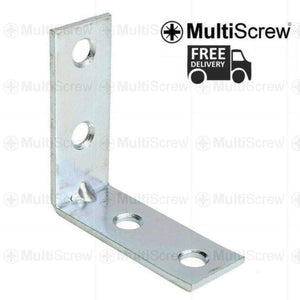 MultiScrew Fixings 25 x 25 x 16 (mm) / 1 Bracket METAL ANGLE BRACKETS 90 DEGREE CORNER BRACE FOR SHELF FENCE ZINC PLATED SUPPORT