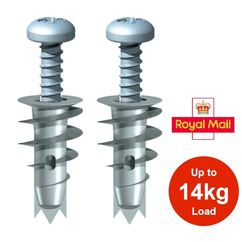 MultiScrew Fixings 4 PLASTERBOARD FIXINGS METAL CAVITY WALL HEAVY DUTY SPEED FIXING PLUGS +SCREWS