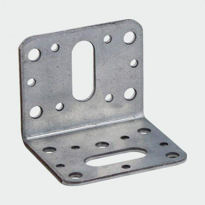 MultiScrew Fixings 50mm x 50mm / 6 50mm x 50mm REINFORCED GALVANISED ANGLE BRACKET HEAVY DUTY DECKING JOISTS TIMBER