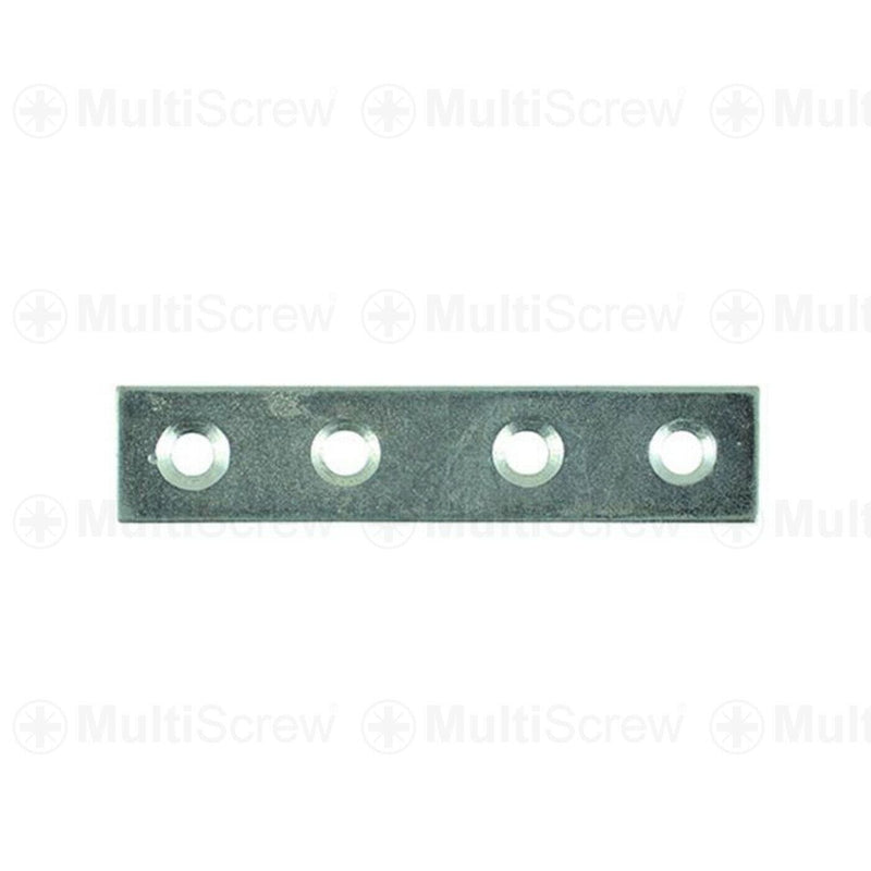MultiScrew Home, Furniture & DIY:DIY Materials:Nails, Screws & Fasteners:Braces & Brackets 75 x 16mm / 5 75mm or 100mm MENDING FIXING PLATE BRACKET STRAIGHT REPAIR JOINT COUNTERSUNK CSK