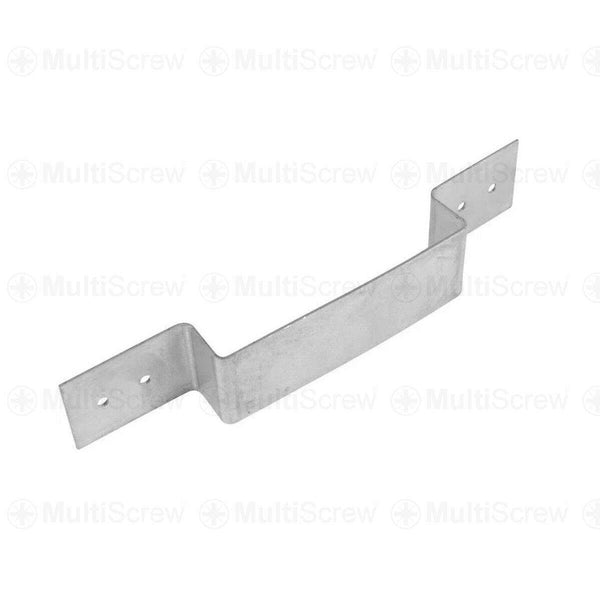 MultiScrew Ironmongery 1 Fence Panel Security Brackets in Heavy Duty Galvanised Steel Anti Rattle Bracket