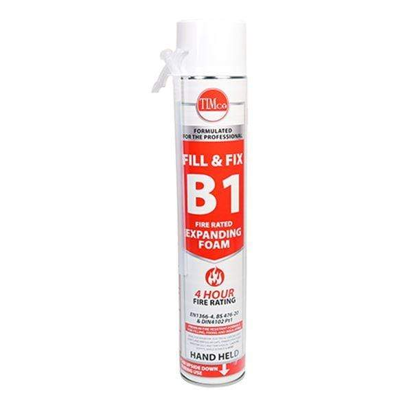 MultiScrew Sealants & Adhesive 1 Fill & Fix Fire Rated Expanding PU Foam - B1 - Hand Held 750ml