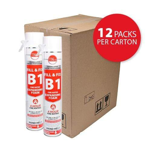 MultiScrew Sealants & Adhesive Fill & Fix Fire Rated Expanding PU Foam - B1 - Hand Held 750ml