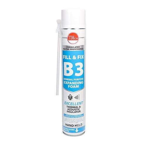 MultiScrew Sealants & Adhesive Fill & Fix Fire Rated Expanding PU Foam - B3 - Hand Held 750ml