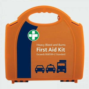 RML Consumables FIRST AID KIT FOR HEAVY BLEED AND BURNS 38 PIECE WALL MOUNTABLE SERIOUS INJURY