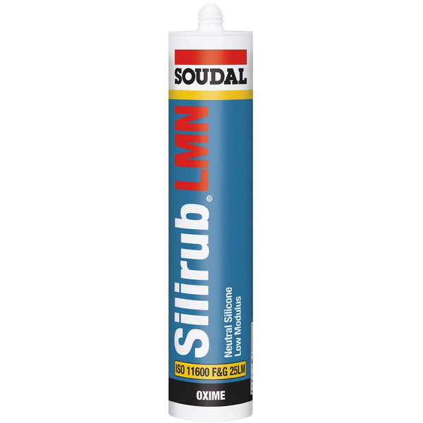 Soudal 300ml Catridge / Brilliant White Soudal Silirub LMN - High Quality LMN Silicone