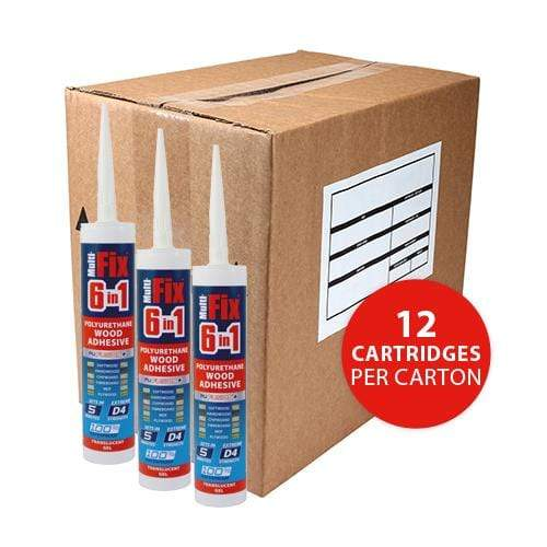 TIMCO Adhesives & Building Chemicals 6 in 1 PU Wood Adhesive - 5 Minutes - Translucent - Gel  310ml 6in1 PU Wood Adhesive 5min Gel