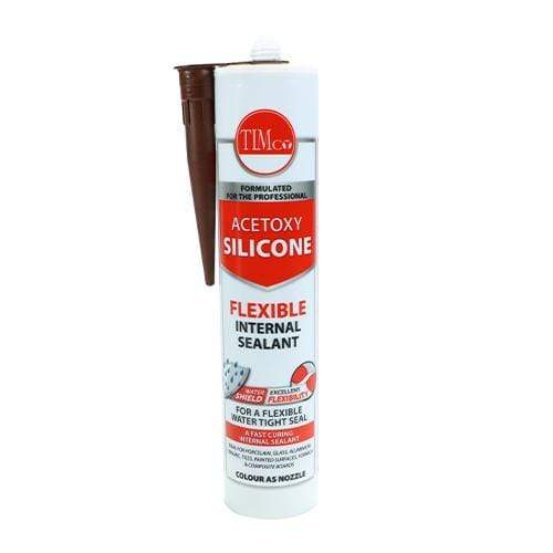 TIMCO Adhesives & Building Chemicals Acetoxy Silicone   Brown  300ml Acetoxy Silicone Cart Brown
