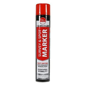 TIMCO Adhesives & Building Chemicals Survey & Spot Marker - Red  750ml Survey & Spot Marker - Red