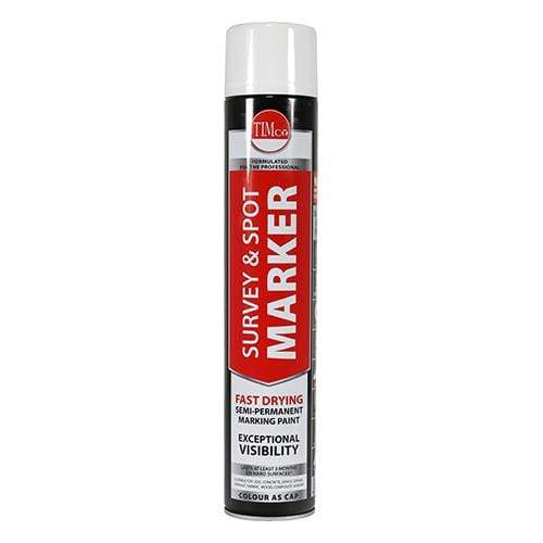 TIMCO Adhesives & Building Chemicals Survey & Spot Marker - White  750ml Survey & Spot Marker - White