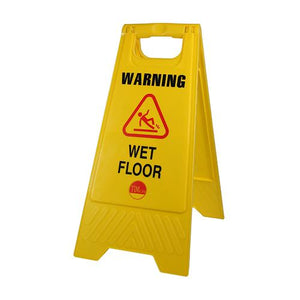 TIMCO Building Hardware & Site Protection A-Frame Safety Sign - Warning Wet Floor  610 x 300 x 30 A-Frame Sign Wet Floor