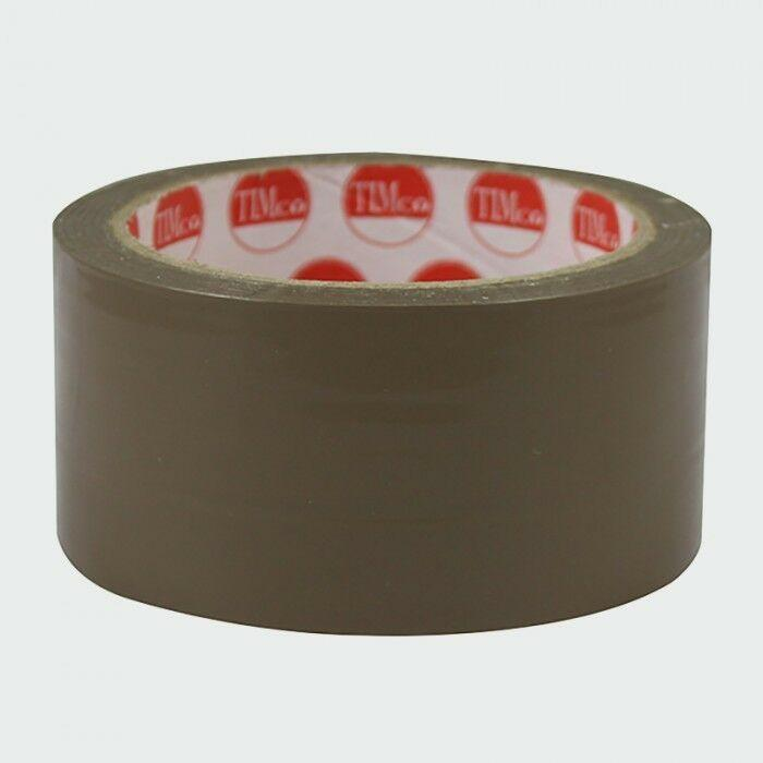 TIMco Consumables 3x Rolls 50m Packaging Parcel Tape Brown Long Length High Quality Strong Sticky