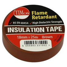 TIMco Consumables TIMCo BROWN ELECTRICAL PVC INSULATION TAPE 18mm x 25m FLAME RETARDANT INSULATING