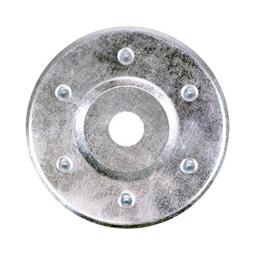 TIMCO Fasteners & Fixings Large Metal Insulation Discs - Zinc  85mm LRG Metal Insulation Disc- BZP