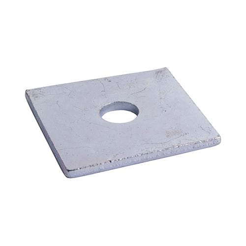 TIMCO Fasteners & Fixings Square Plate Washers - Zinc  M12 x 50 x 50 x 3 Square Plate Washer - BZP