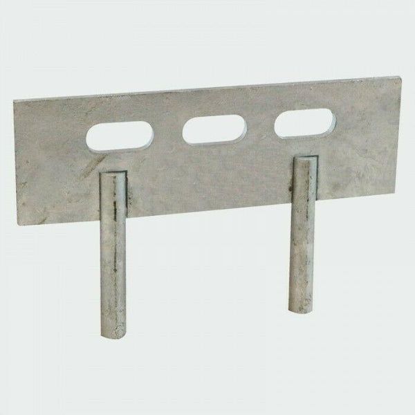 Timco Ironmongery 10 PAIRS - 150mm x 50mm GRAVEL BOARD PANEL CLIPS - 2 PIN CLEAT FENCE BRACKETS
