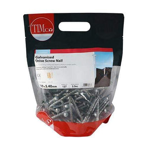 TIMCO Nails Drive Screws - Galvanised  100 x 5.40 Drive Screw - Galvanised