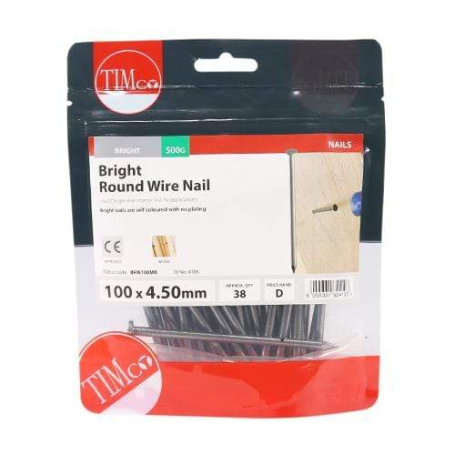 TIMCO Nails Round Wire Nails - Bright  100 x 4.50 Round Wire Nail - Bright
