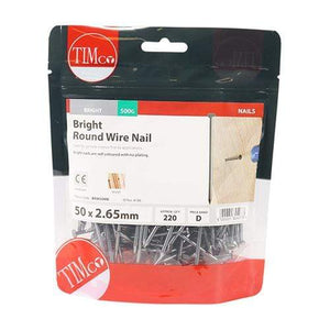 TIMCO Nails Round Wire Nails - Bright  50 x 2.65 Round Wire Nail - Bright