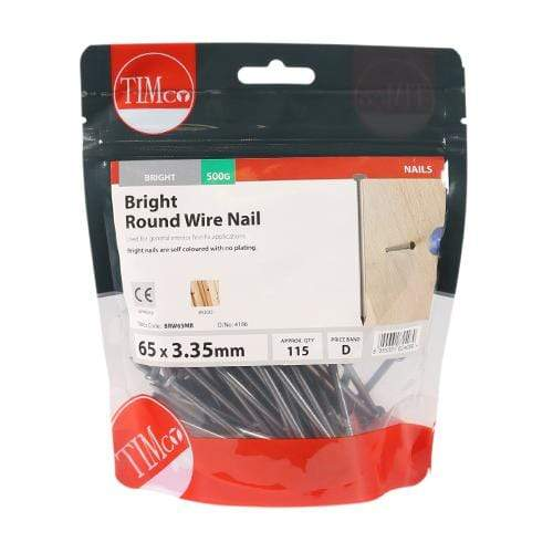 TIMCO Nails Round Wire Nails - Bright  65 x 3.35 Round Wire Nail - Bright