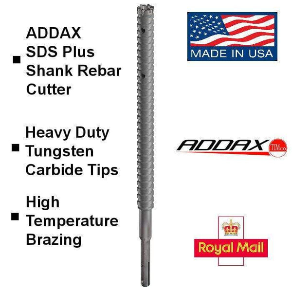 TIMCO Power Tool Accessories 20 x 300mm SDS Plus Shank Rebar Cutter Complete - MSRB20 - Qty 1 / EA Addax