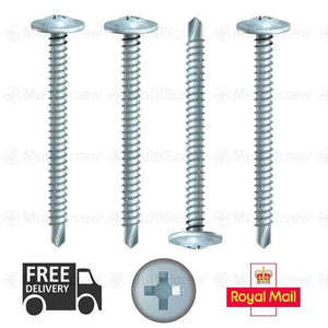 Timco Screws 10 4.8mm x 90mm, BAYPOLE WAFER HEAD SELF DRILLING SCREW, BAY WINDOW SCREWS uPVC