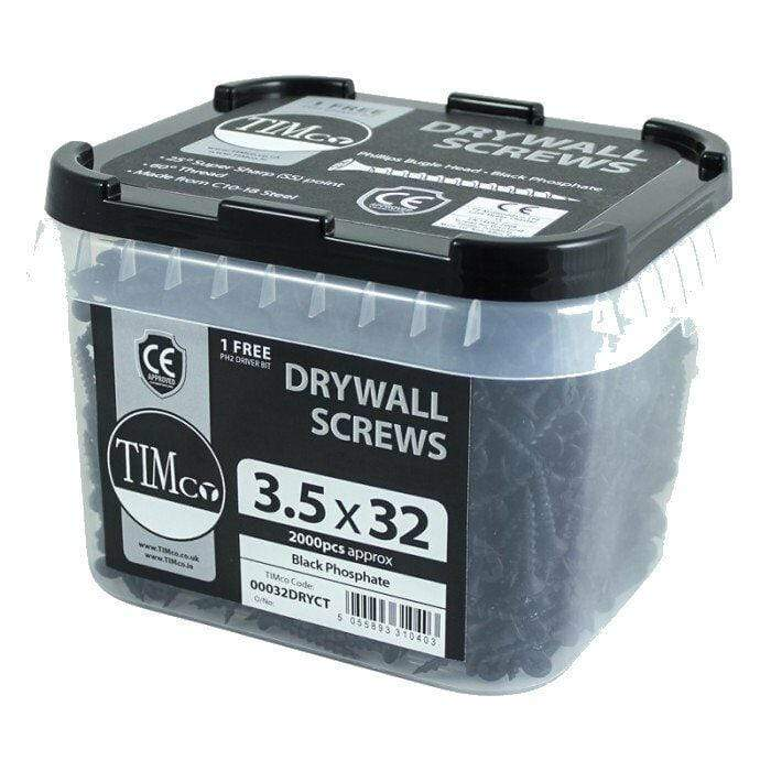 TIMco Screws COARSE THREADED DRYWALL SCREWS BLACK PHOSPHATE BUGLE HEAD DRYLINING WOODEN CE