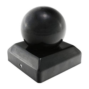 TIMCO Security & Ironmongery Ball Fence Post Cap - Epoxy Black  100mm Ball Post Cap - Black