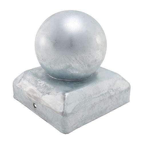 TIMCO Security & Ironmongery Ball Fence Post Cap - Hot Dipped Galvanised  75mm Ball Post Cap - Hot Dip Galv.
