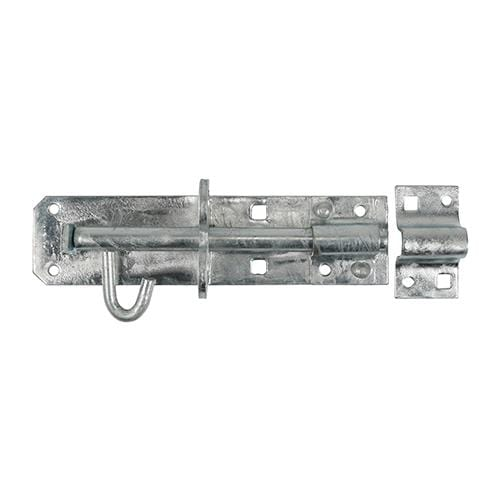 "TIMCO Security & Ironmongery Brenton Padbolt - Hot Dipped Galvanised  8"" Brenton Padbolt HDG"