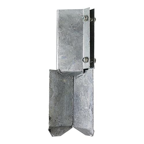 TIMCO Security & Ironmongery Concrete In Shoe - Bolt Secure - Hot Dipped Galvanised  100mm Concrete in Shoe - Bolt HDG