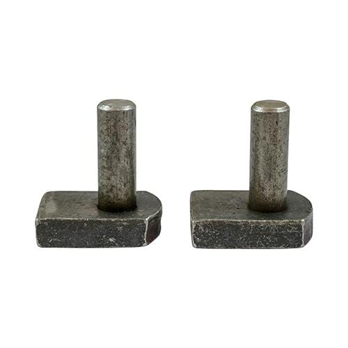 TIMCO Security & Ironmongery Gate Hooks to Weld - Self Coloured  22mm Gate Hooks to Weld