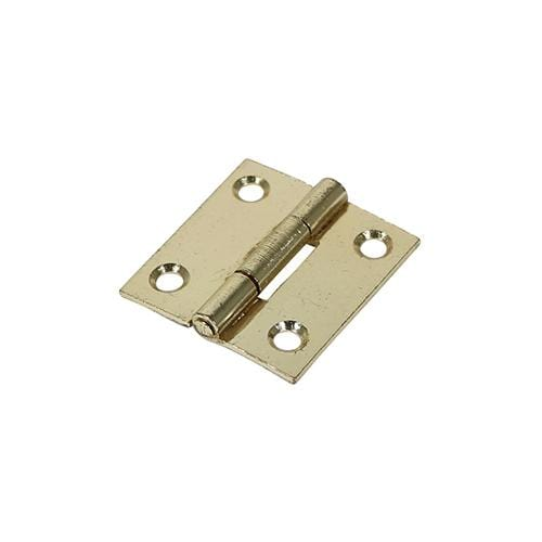 TIMCO Security & Ironmongery Pair of Butt Hinges - Fixed Pin - Steel - Electro Brass  38 x 34 1838 Butt Hinge - E/Brass