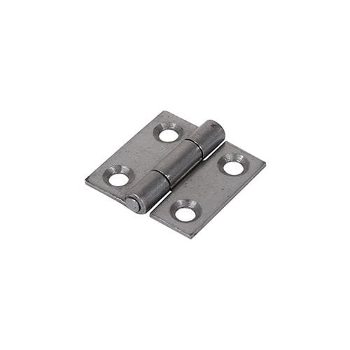 TIMCO Security & Ironmongery Pair of Butt Hinges - Fixed Pin - Steel - Self Colour  25 x 25 1838 Butt Hinge - Self Col.