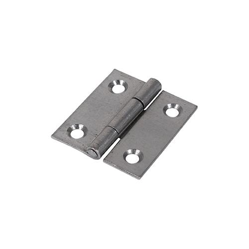 TIMCO Security & Ironmongery Pair of Butt Hinges - Fixed Pin - Steel - Self Colour  38 x 34 1838 Butt Hinge - Self Col.