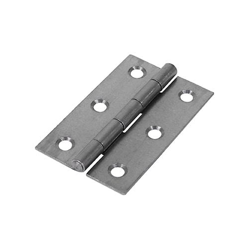 TIMCO Security & Ironmongery Pair of Butt Hinges - Narrow - Uncranked - Steel - Self Colour  75 x 48 5050 Butt Hinge U/C - Self Col
