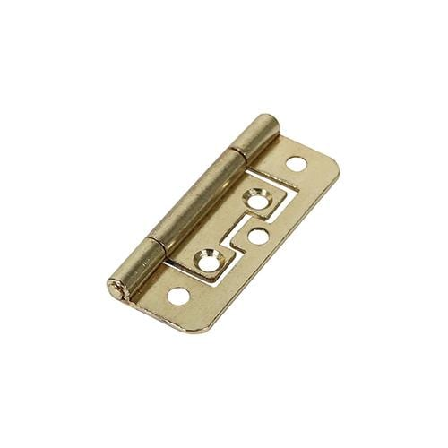 TIMCO Security & Ironmongery Pair of Flush Hinges - Steel - Electro Brass  63 x 37 105 Flush Hinge - E/Brass